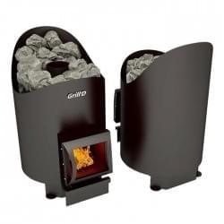 Стальная печь для бани Grill'D Aurora 160 Short black