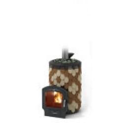 Печь для бани стальная Термофор (TMF) Альфа Панголина Лайт Inox ЧДБСЭ ЗК шамот-терракота