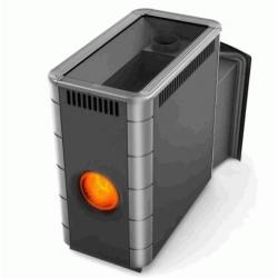 Печь для бани стальная Термофор (TMF) Аврора XXL Inox Витра Иллюминатор антрацит НВ
