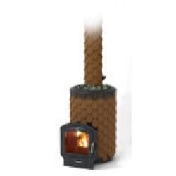 Печь для бани стальная Термофор (TMF) Альфа Панголина Inox ЧДБСЭ ЗК терракота