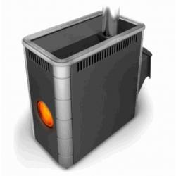 Печь для бани стальная Термофор (TMF) Аврора XXL Inox ДА Иллюминатор антрацит НВ