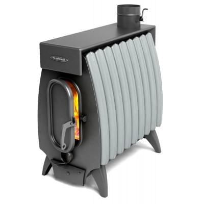 Печь TMF-Термофор Огонь-Батарея 9 лайт антрацит-серый металлик для дома и дачи