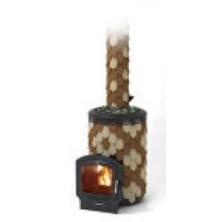 Печь для бани стальная Термофор (TMF) Альфа Панголина Inox ЧДБСЭ ЗК шамот-терракота