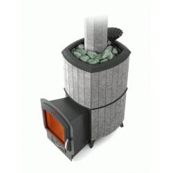 Печь для бани стальная Термофор (TMF) Альфа Гардарика Inox ЧДБСЭ ЗК серый гранит