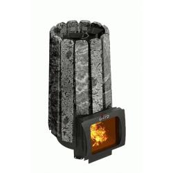 Стальная печь для бани Grill'D Cometa 180 Vega Short Window Max Stone