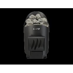 Стальная печь для бани Grill'D Aurora Mini Short black