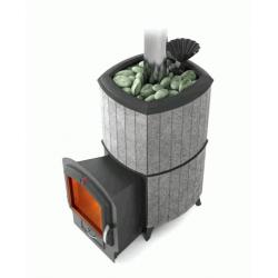 Печь для бани стальная Термофор (TMF) Альфа Гардарика Лайт Inox ЧДБСЭ ЗК серый гранит