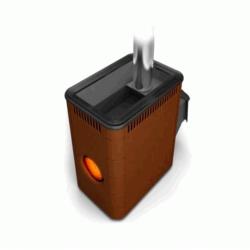 Печь для бани стальная Термофор (TMF) Аврора ДА Иллюминатор терракота