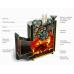 Печь для бани стальная Термофор (TMF) Гейзер 2014 Carbon ДН ЗК антрацит