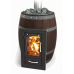 Печь для бани стальная Термофор (TMF) Вариата Inox Люмина КТК Баррель палисандр