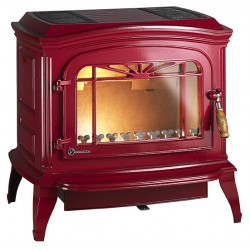 Чугунная печь-камин Invicta Bradford красный