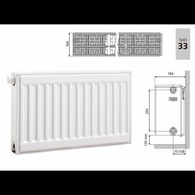 Cтальной панельный радиатор PRADO Universal 33х300х2200
