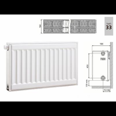 Cтальной панельный радиатор PRADO Universal 33х500х1500